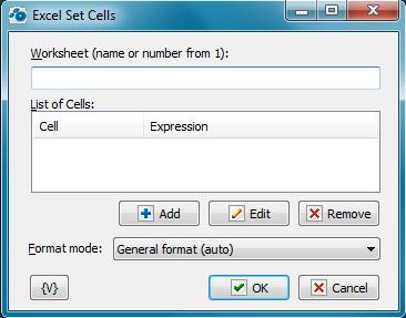 Excel Set Cells - RoboTask User's Guide
